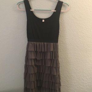 Black and gray layered dress